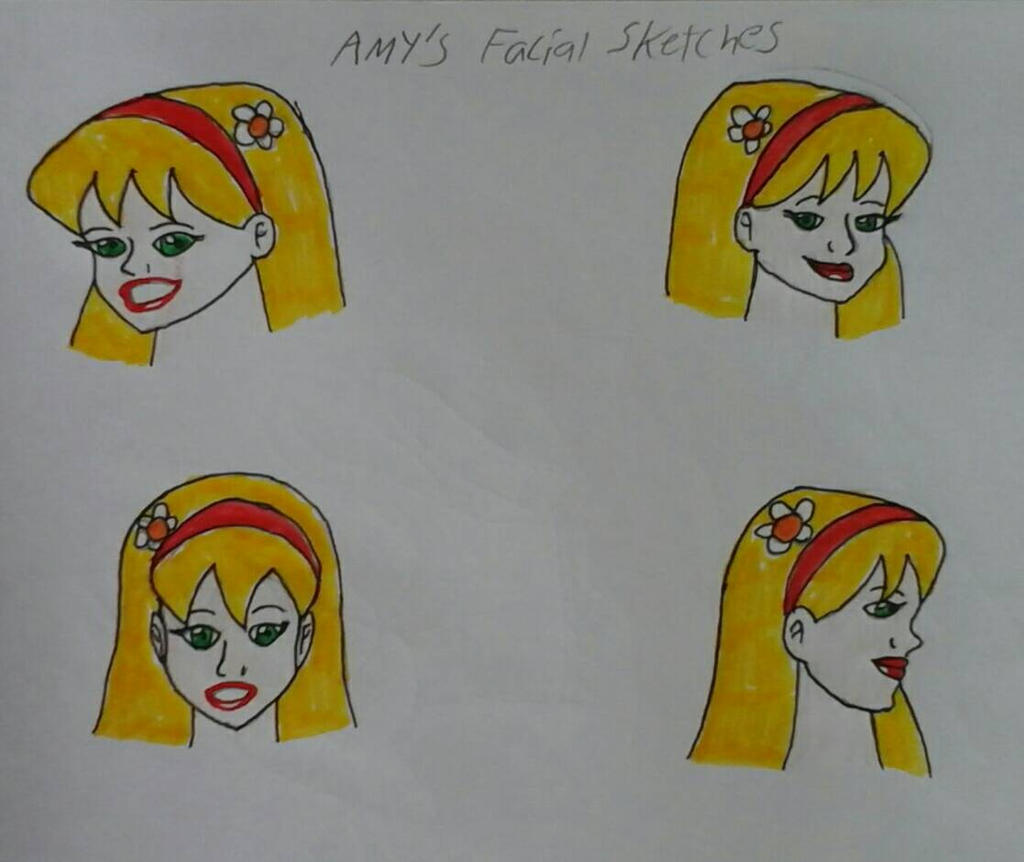 Amy's Facial Sketches by JQroxks21
