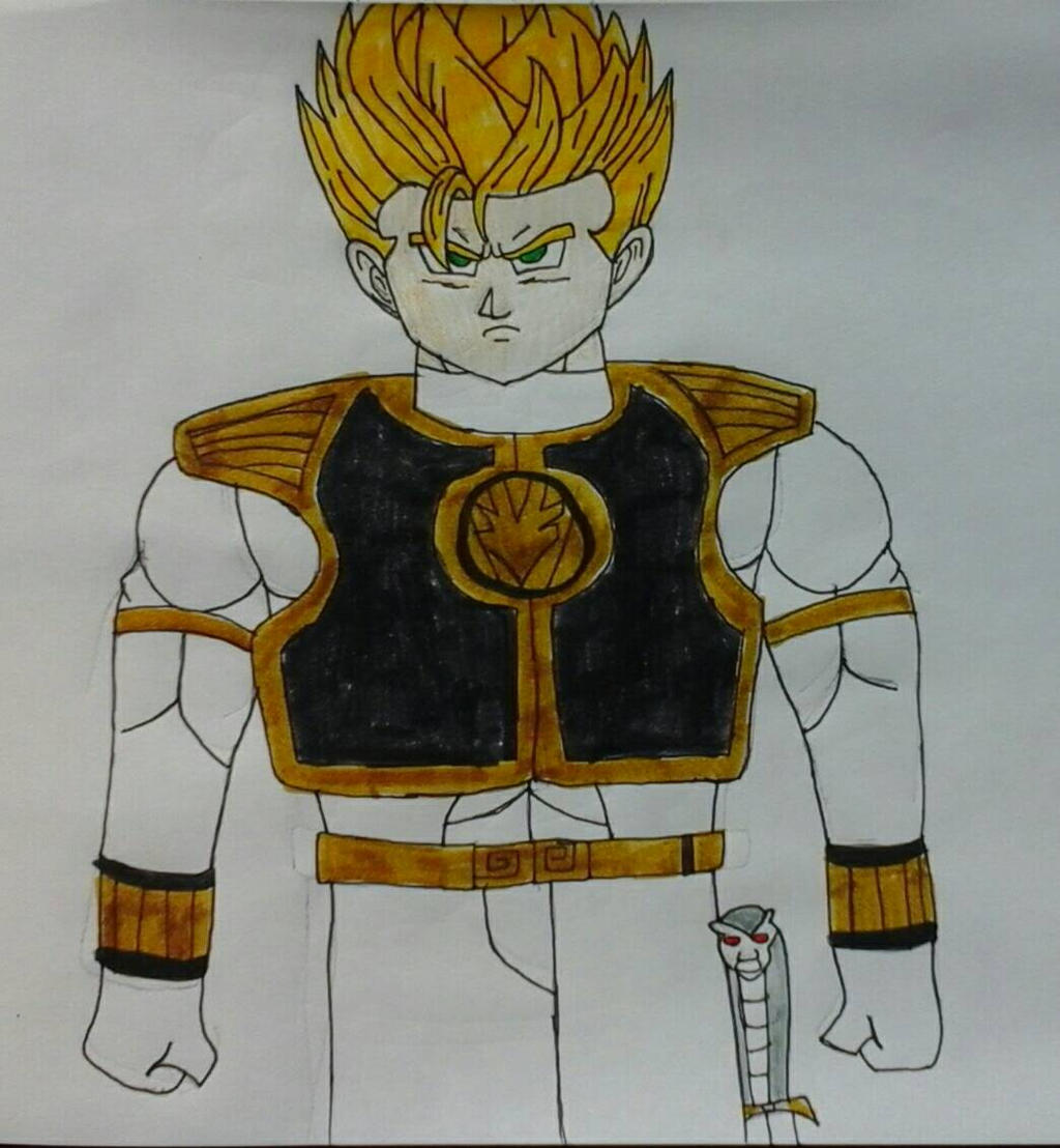 Super Sayian Gohan The White Ranger by JQroxks21