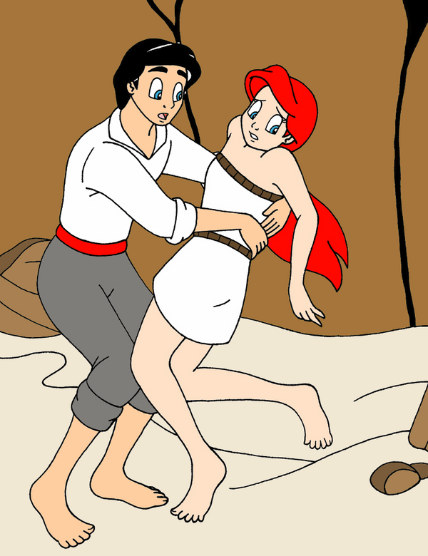 Eric Helps Ariel by streetgals9000 by JQroxks21