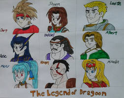 The Legend of Dragoon Character Roster