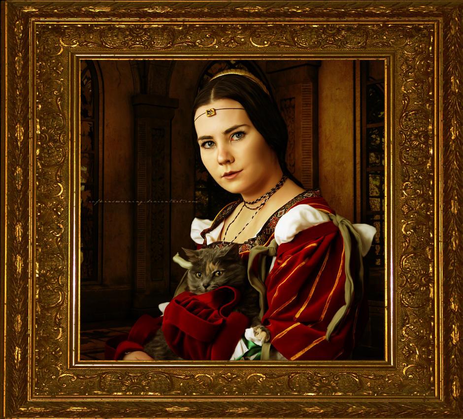 Lady with a Feline by RafkinsWarning