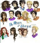 the Heroes of Olympus by Burdge-bug