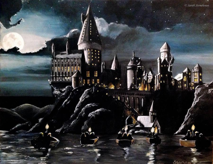 Harry Potter Book Art Hogwarts Hogwarts by Sce...