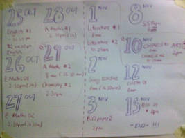 Exam Timetable by estherlicious