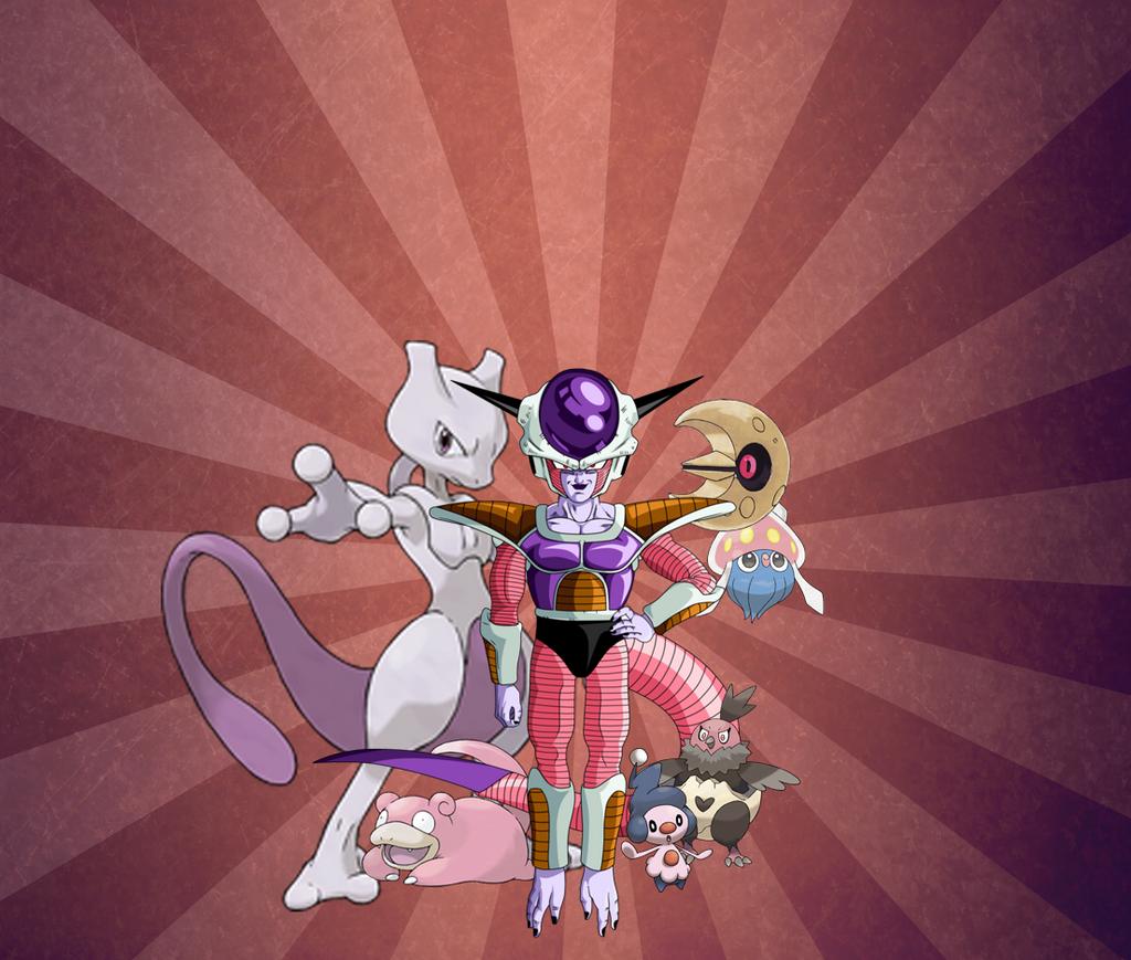 Frieza (1st Form) With Pokemon by druefus on DeviantArt