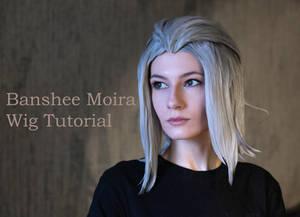 Banshee Moira (Overwatch) wig tutorial