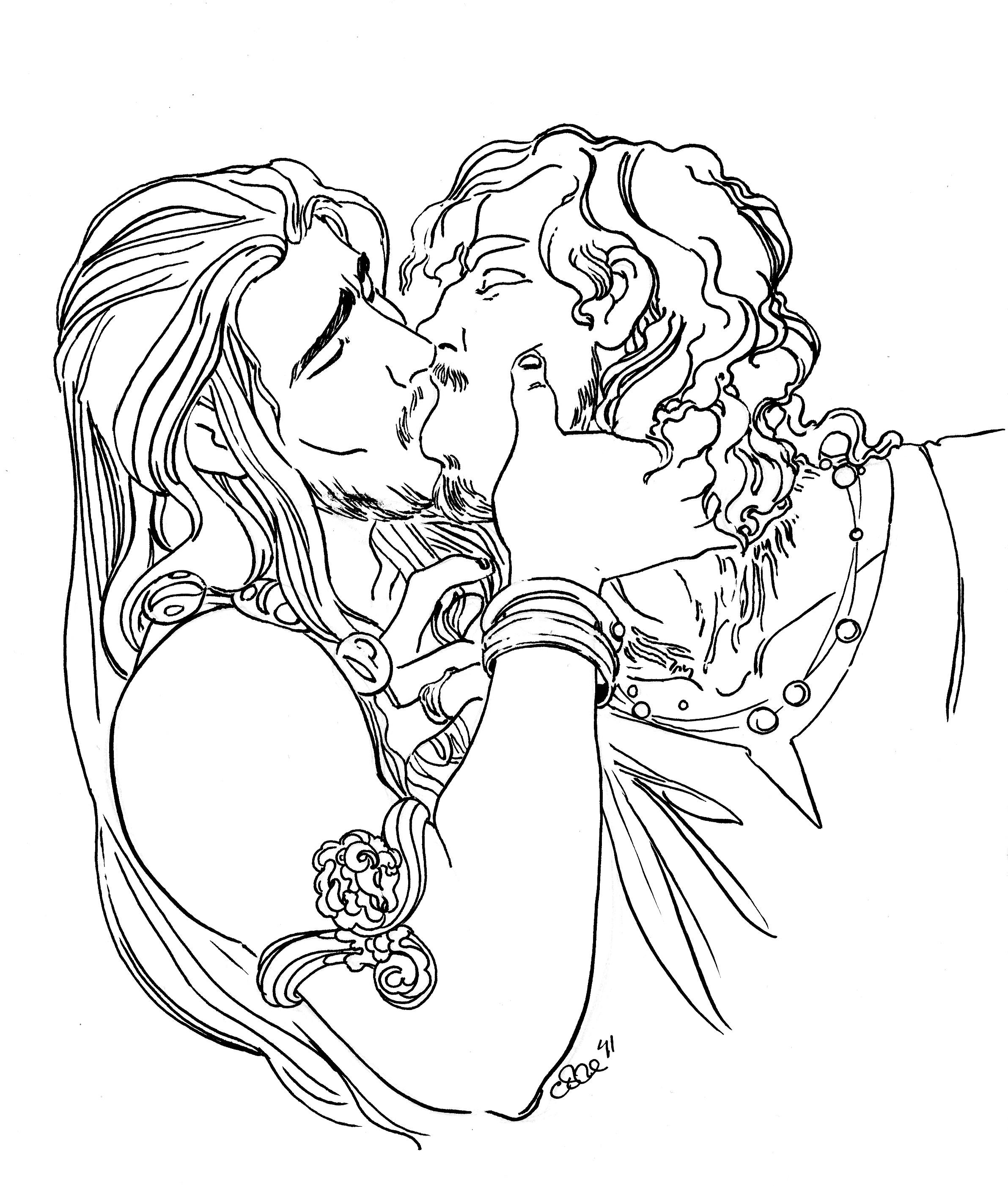 Ash and Sol Kiss B+W