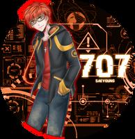 Mystic Messenger: Saeyoung/707/Luciel by PrincePhantom
