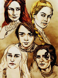 Game of Thrones Women by eylulkoksumer