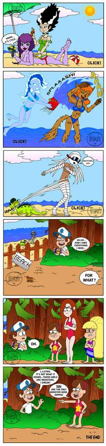 Gravity Falls comic: Dipper is a monster!