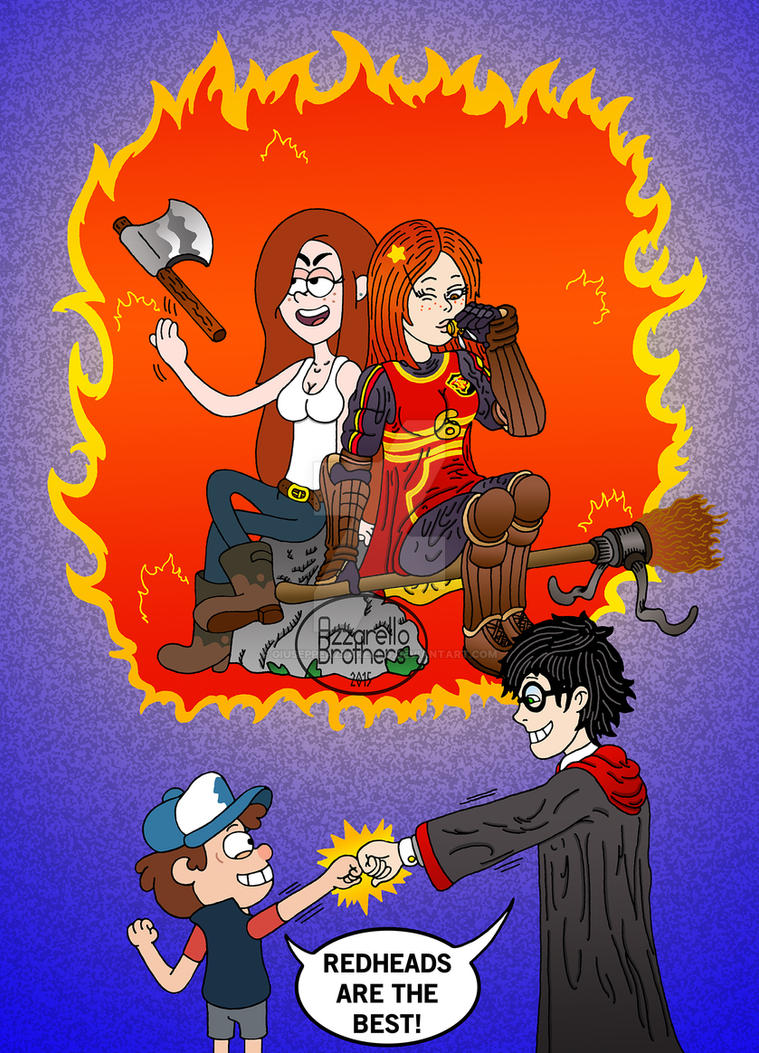 GRAVITY FALLS X HP: Redheads Appreciation Club by GiuseppeAzzarello