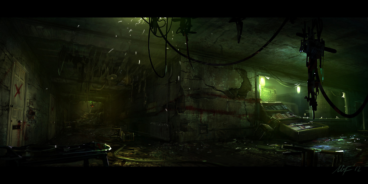 Scary hospital corridor hospital corridor by m3 f