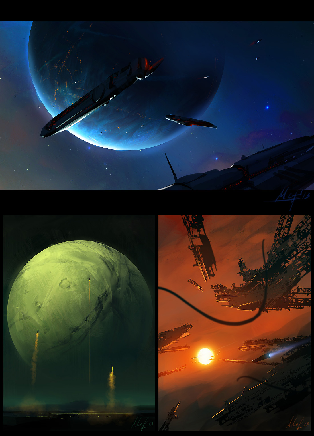 Space Speedpaints 2 by ArtistMEF