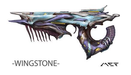 Project OVERSTEP - Alien Pistol Concept Art by ArtistMEF
