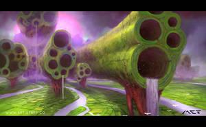 Trypophobia Trees by ArtistMEF