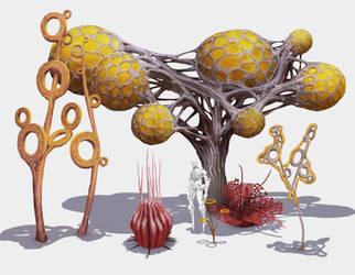 Alien Flora Concepts by ArtistMEF