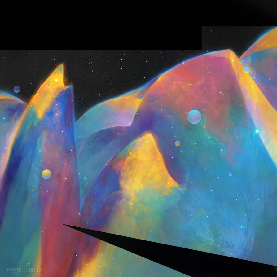 Space Mountains 1 by ArtistMEF