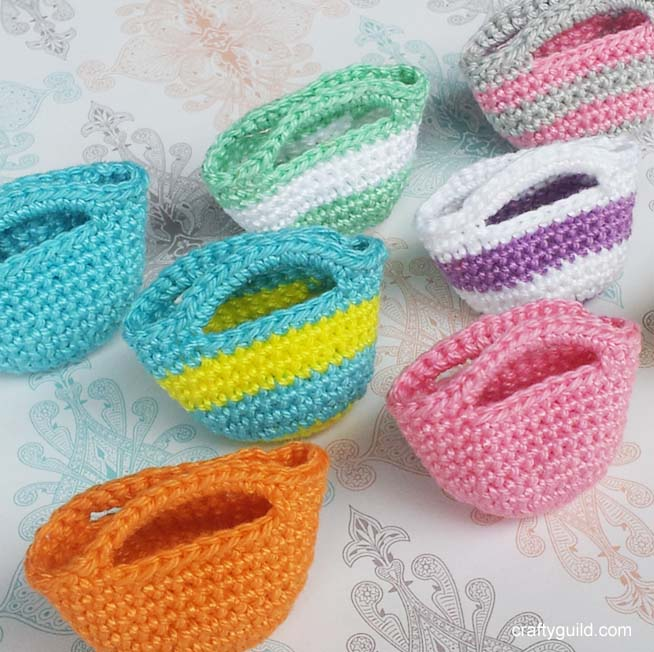 Mini Crochet Bag : How To Crochet A Mini Tote Bag by craftyguild on DeviantArt