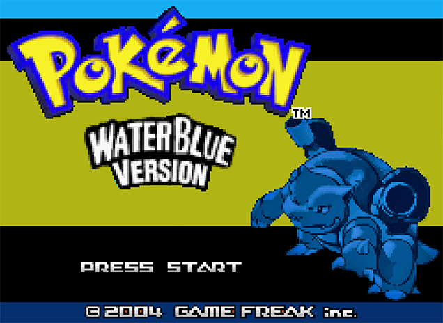 Pokemon WaterBlue Version Title Screen by Yarcaz