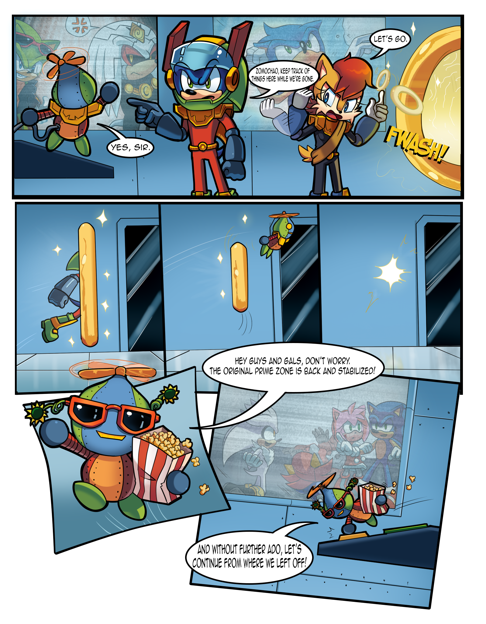 Mobius Legends Issue #1 - Page 6 (Old) by Yarcaz on DeviantArt