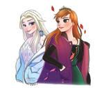 Spirit Elsa and Queen Anna, Frozen Fanart