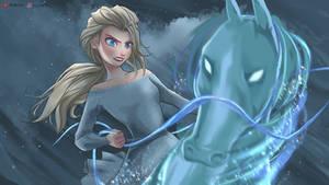 Nokk and Elsa, Frozen Fan art
