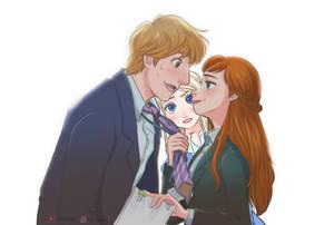 Kristoff and Anna...(Elsa)