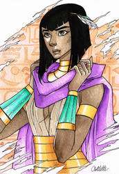 Pharaoh Hatshepsut by Artoflette