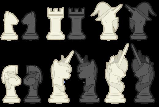 Pony Chess Pieces