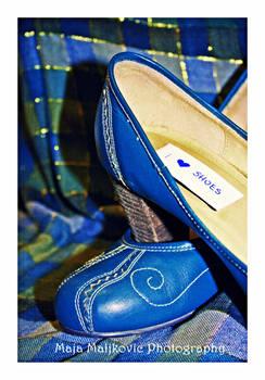 7. Blue suede shoes