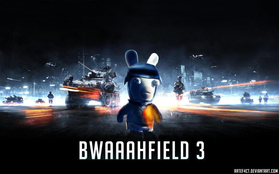 BWAAAHFIELD 3 Wallpaper Rabbids And Battlefield3 By ArteF4ct