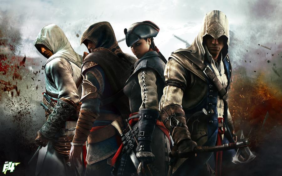 Altair-Ezio-Aveline-Connor by ArteF4ctConnor And Ezio