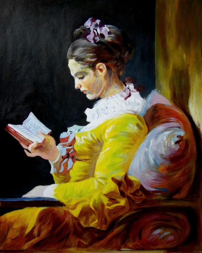 """my """"reading girl"""" by sebastian-wp"""