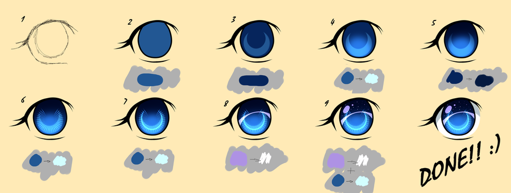 Paint Tool Sai Tutorials Easy Eyes Step By Stept By