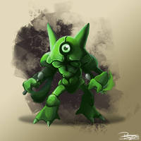 -Pokemon fusion Metakazam- by DamianDegorski