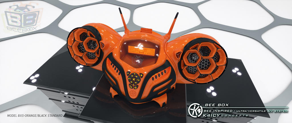 K4icy Beebox Orange (Front) by MikeK4ICY