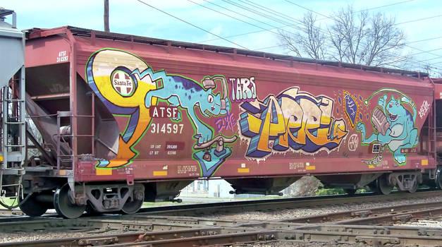 Grain Car Cat Graffiti