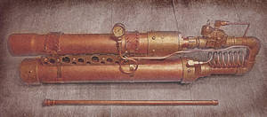 Steam Punk Pneumatic Tennis Ball Launcher