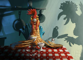 Ralphie Rooster's Midnight Snack by MikeK4ICY