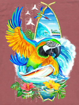Surfing Parrot