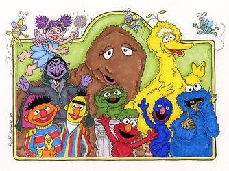 Sesame Street by beckadoodles