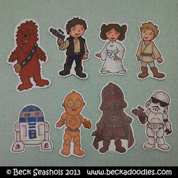Star Wars Stickers by beckadoodles