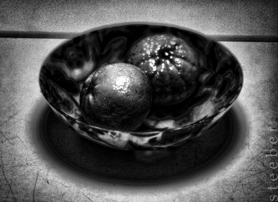 Tangerines in a Bowl 1 by steeber