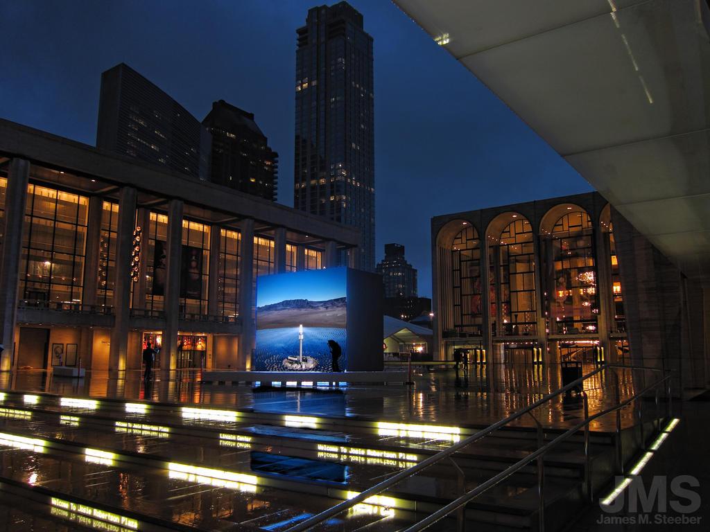 Lincoln Center w John Gerrard's Solar Reserve by steeber