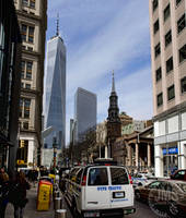 Word Trade Center Pano from Fulton by steeber