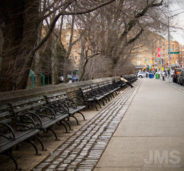 Long Row Of Benches