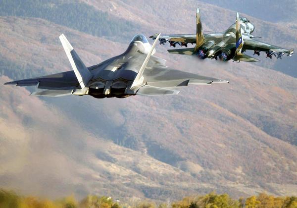F 22 SU 37 by galm11