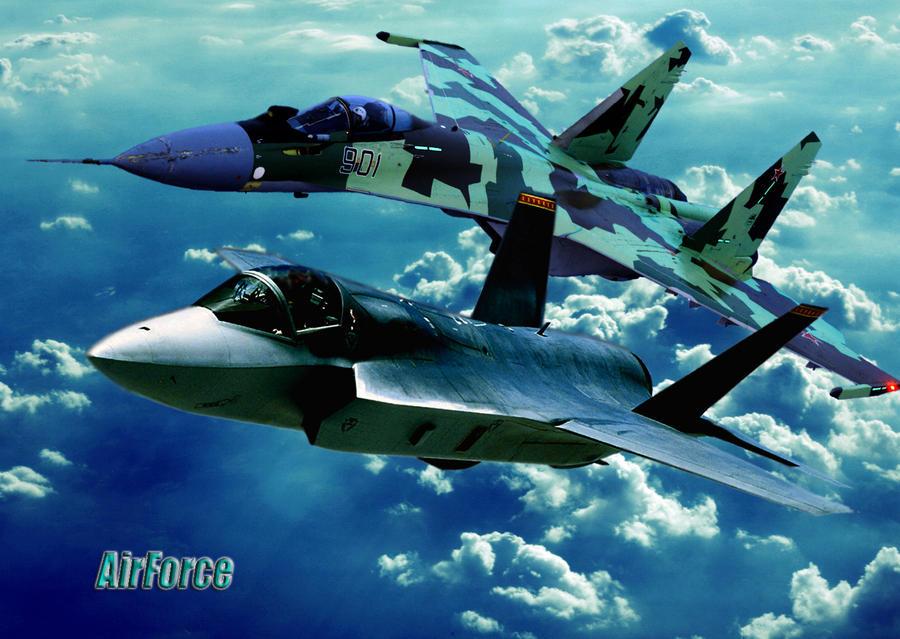F 35 SU 35 by galm11