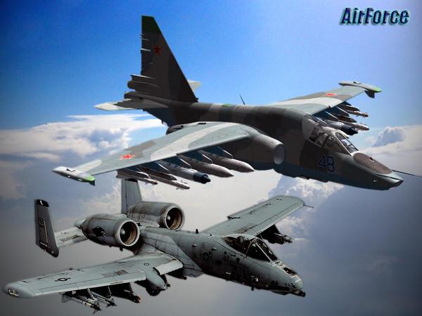 A-10 vs SU-25