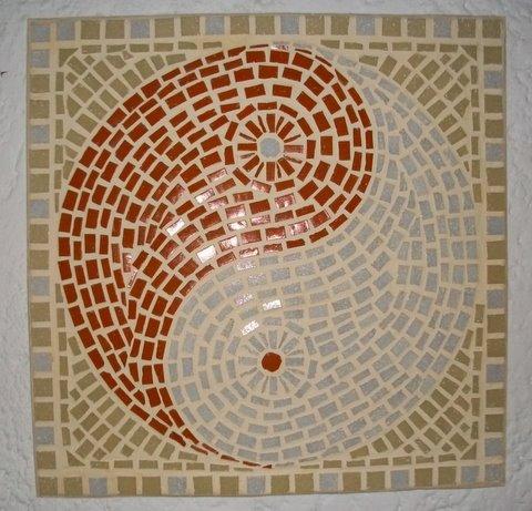 Mosaic ying yang by brigittesa2 on deviantart for Easy mosaic designs